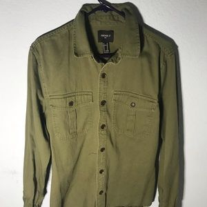 Forever 21 olive button up